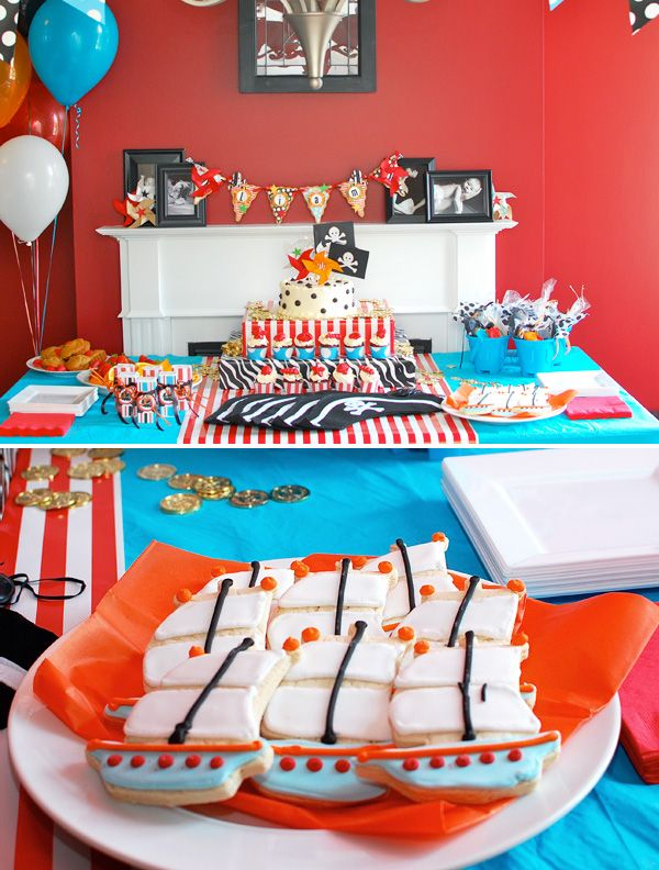 cute pirate birthday cookies