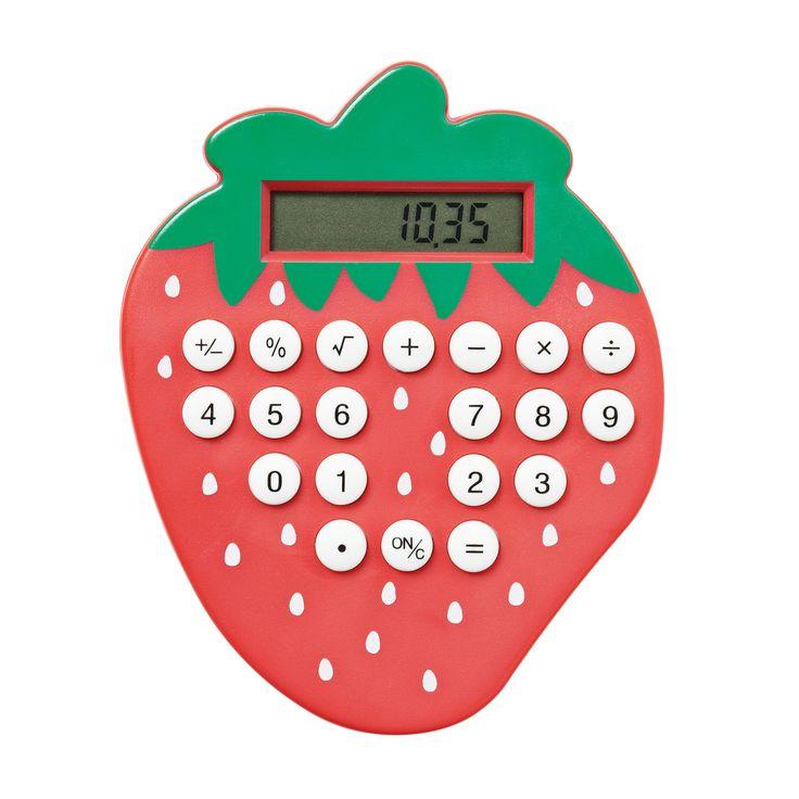 Kalkulator truskawkowy - rozwiąże wszystkie zagwostki matematyczne. #tigerpolska #tigerstore #straberry #tigerberry #straberries #kalkulator #calculator #lekcje #szkoła #matematyka #prezent #gift #school #mathematics #lesson #działania #liczenie #tigerdesign #design #tgrdesign