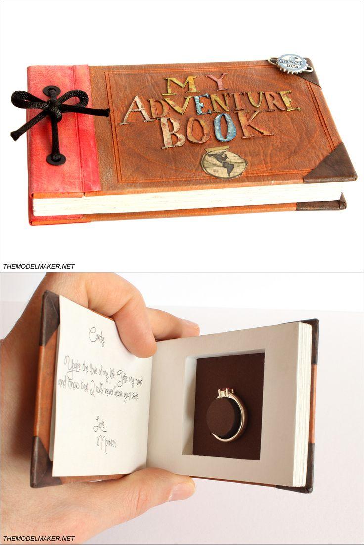custom disney/pixar up inspired engagement ring box <3