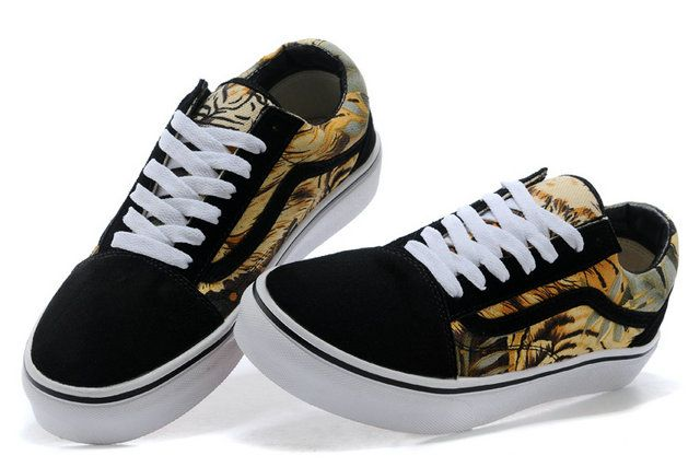 vans old skool suede tiger print black yellow off the wall on off the wall id=52287
