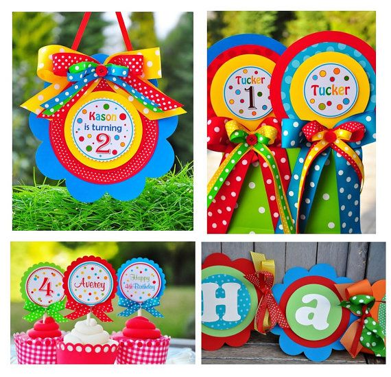 Peanut's party - love the colors!