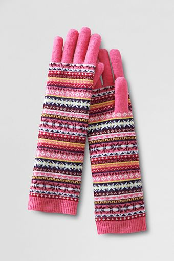 Women's FairIsle Elongated Glove from Lands' End