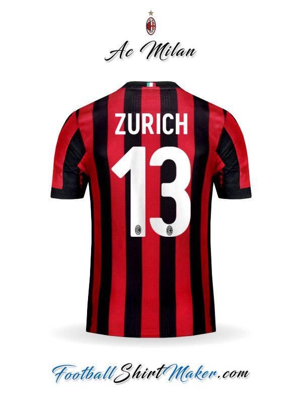 Camiseta AC Milan 2017/2018 Zurich 13