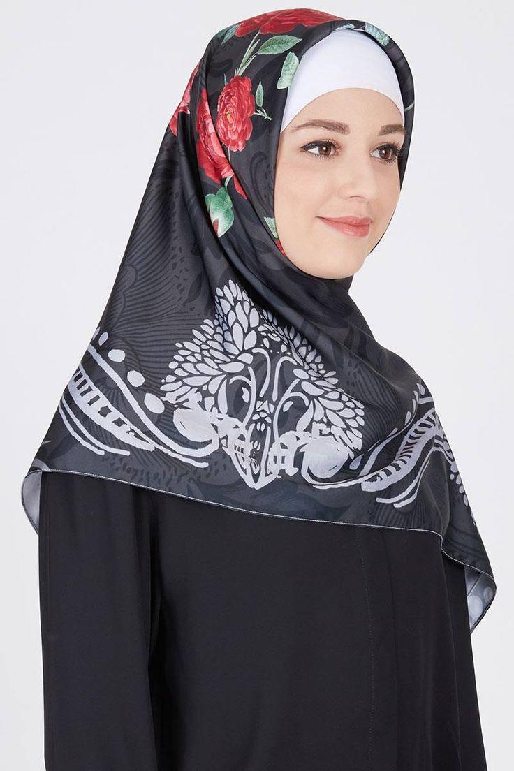 Sell Calming Black Square-hijab   Hijabenka.com