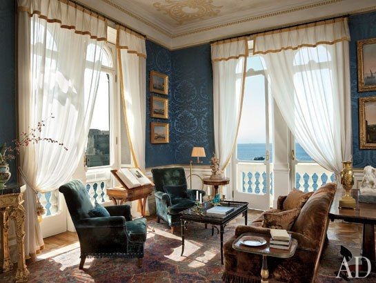 ... , asymmetrical, Miles Redd on Sheer Curtains : Architectural Digest