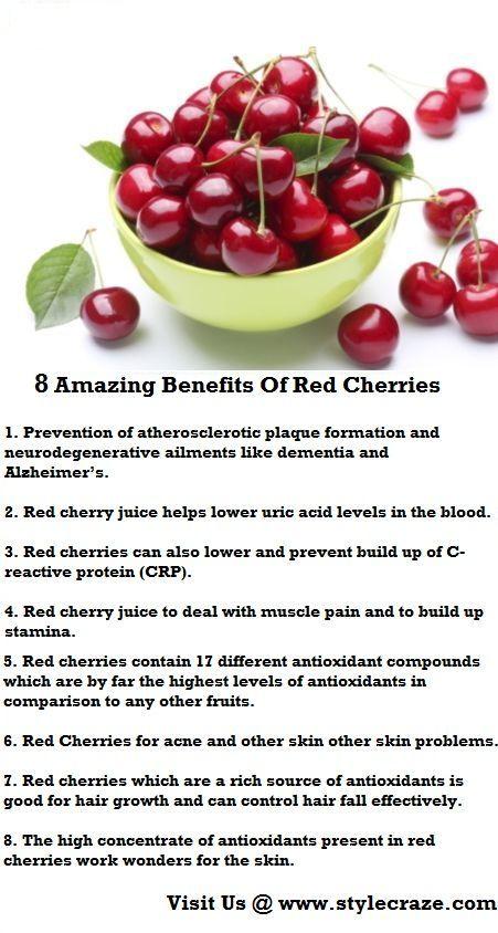 8 Best benefits Of Red Cherries