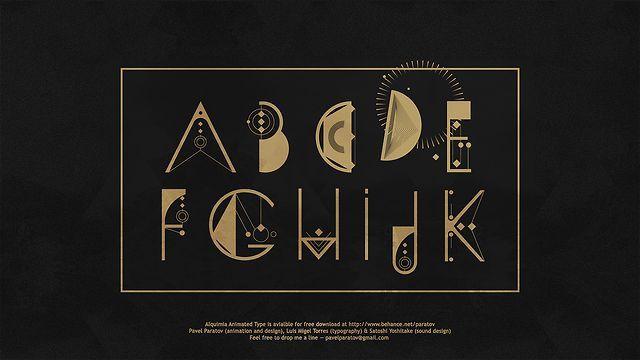 ALQUIMIA ANIMATED TYPE   Type Design : Luis Migel Torres  Son : Satoshi Yoshitake Motion Design : Pavel Paratov