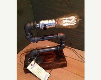EBE Designer Industrial Lighting Steampunk Lamp by EmmasByEmma