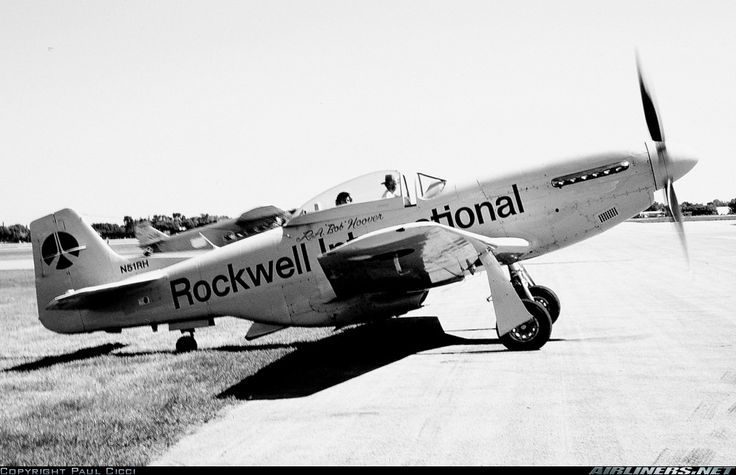 Photo taken of Bob Hoover firing up his P-51D during the DuPage County Airshow.  Rockwell International North American P-51D Mustang  Chicago / West Chicago - Dupage (DPA) USA - Illinois, July 1975