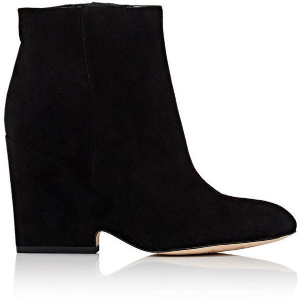 Sam Edelman Women's Wilson Suede Ankle Boots ($89) ❤ liked on Polyvore featuring shoes, boots, ankle booties, ankle boots, black, suede ankle boots, sam edelman boots, short black boots and suede boots