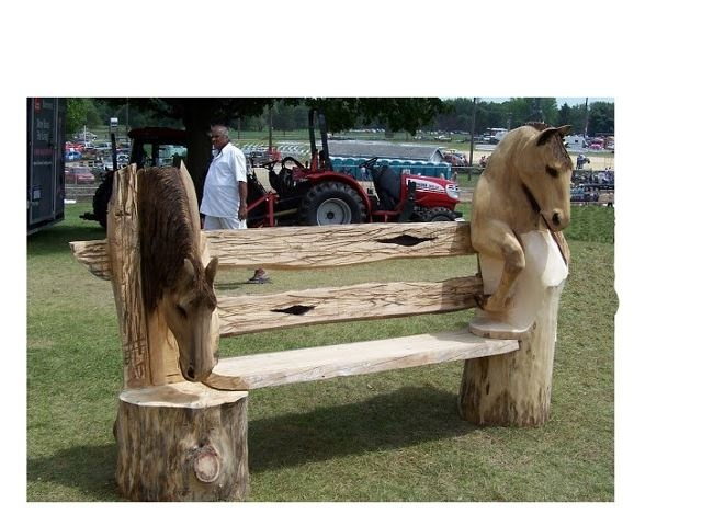 Horse bench chainsaw carving ideas pinterest