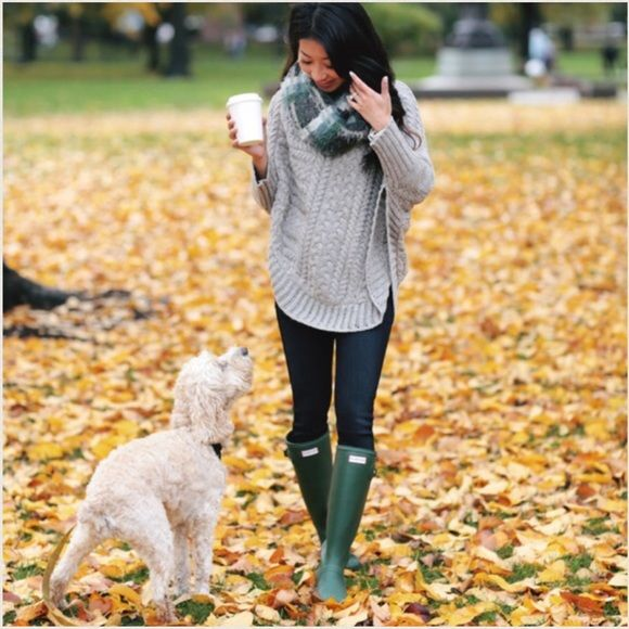 Hunter Original Rain Boot Hunter Green Matte 5 HUNTER 'Original Tall' Rain Boot Matte Color: Hunter Green Size: US 5 / UK 3 / EU 36 http://shop.nordstrom.com/s/hunter-original-tall-rain-boot-women/3348252  EXTREMELY FASHIONABLE! Popularized by Kate Moss and other celebrities, as well as a blogger favorite.  BRAND NEW IN BOX Price firm. Hunter Boots Shoes Winter & Rain Boots