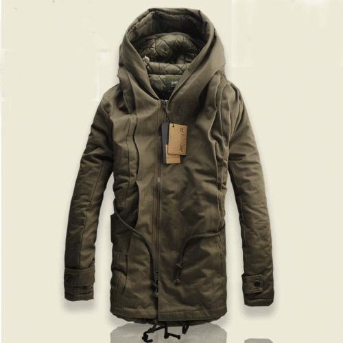 Military Trench Coat Ski Jacket Hooded Parka
