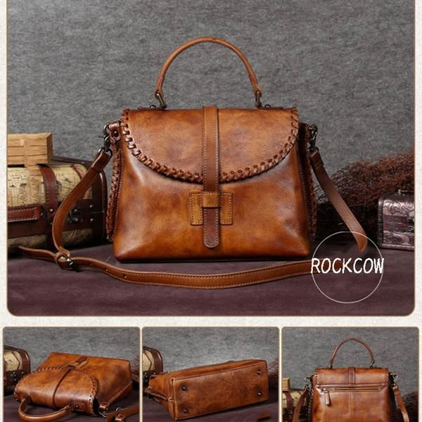 Handmade Leather Women Handbag, Messenger Satchel Bag A0005