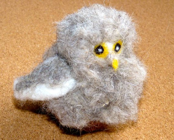 baby felted owl sitting in nest by WoodlandFeltCrafts on Etsy, €20.00