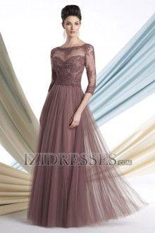 Sheath/Column High Neck Organza Mother of the Bride Dress