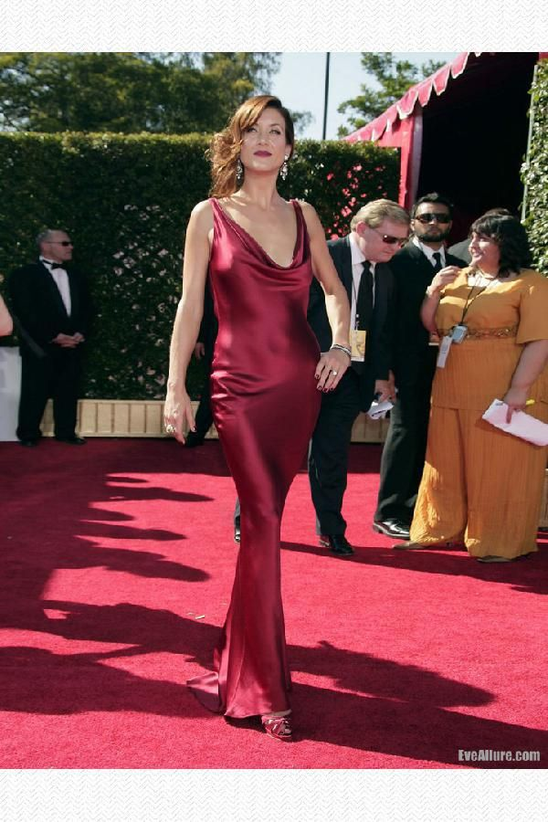 Sale Magnificent Dresses Red Kate Walsh Red Formal Dress 2007 Emmy Awards Red  Carpet Dress For Cheap 182546246
