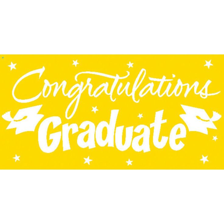 "Pack of 6 Yellow and White Gigantic ""Congratulations Graduate"" Giant Party Banners 10'"