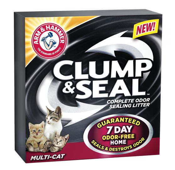 Arm & Hammer Clump & Seal Cat Litter: our new litter at home after our free trial!!