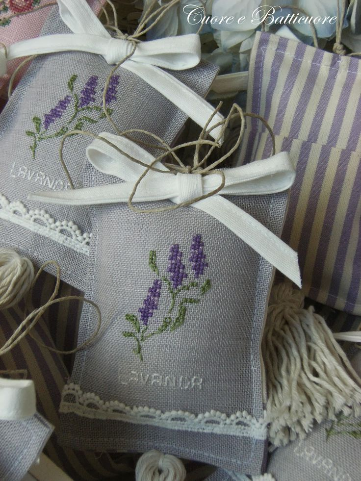Cuore e Batticuore: sacchetti promumati alla lavanda
