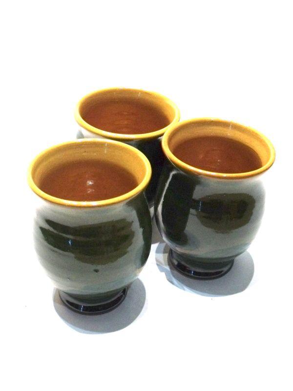 Pálinkás pohár - zöld