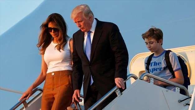Μελάνια και Μπάρον Τραμπ μετακόμισαν στον Λευκό Οίκο - naftemporiki.gr