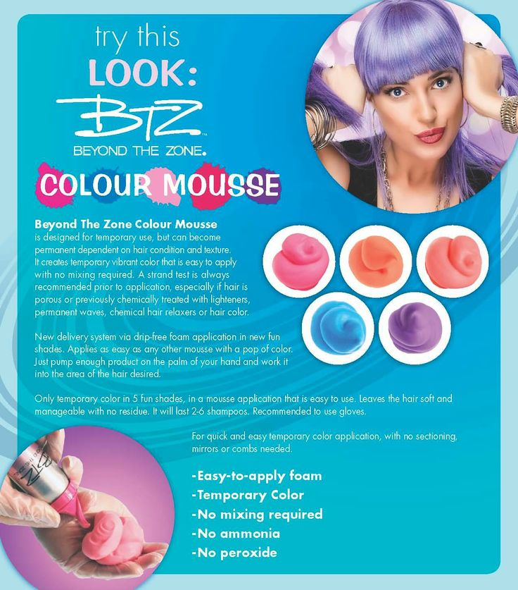 Beyond The Zone Colour Mousse... Since, I won\'t let you bleach your ...