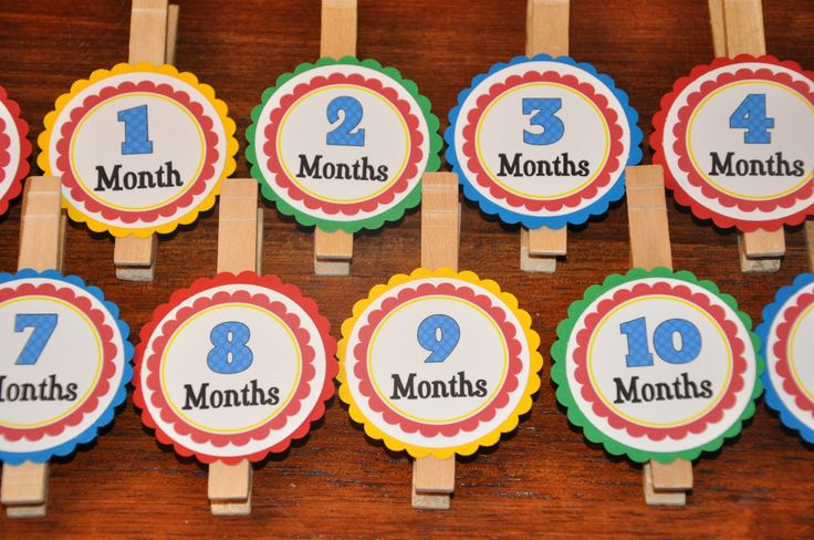 Photo Clips. Photo Banner. DIY Photo Banner. First Birthday. Polka Dots. Primary Colors.. $10.00, via Etsy.