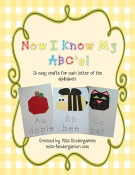 Introducing the easiest crafts you will ever make!There are no templates for these crafts! Each craft has a list of materials and dimensions....Classroom, Misskindergarten, Abc Crafts, Easy Crafts, Kindergarten Crafts, A Z Crafts, Kindergarten Ideas, Miss Kindergarten, Alphabet Crafts