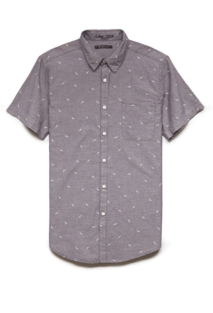Bird Print Chambray Shirt | 21 MEN #SummerForever #21Men