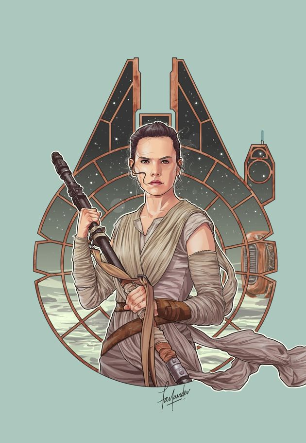 Fan Art from Star Wars Episode VII The Force Awakens #reyisbae                                                                                                                                                      More