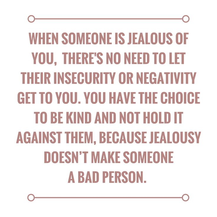 A new perspective on jealousy