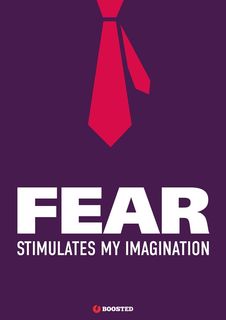 Motivační plakát Strach (Anglicky)
