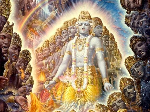 Image result for krishna mouth universe