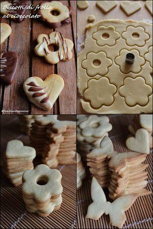 San Valentino si avvicina! Perché non realizzare dei golosi biscotti di profumata frolla ricoperti al cioccolato per le persone che amia...