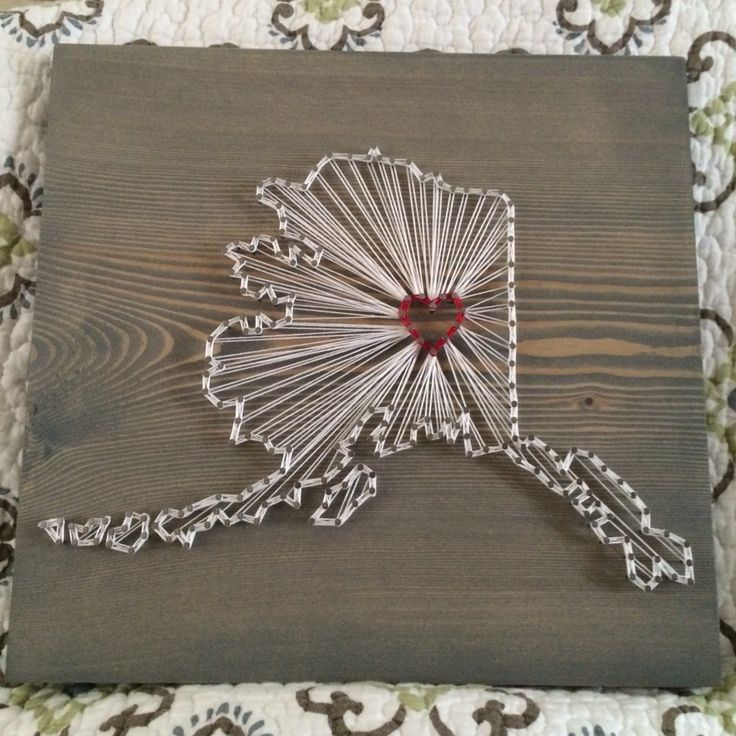 Single State Country String Art Sign Wood Sign State
