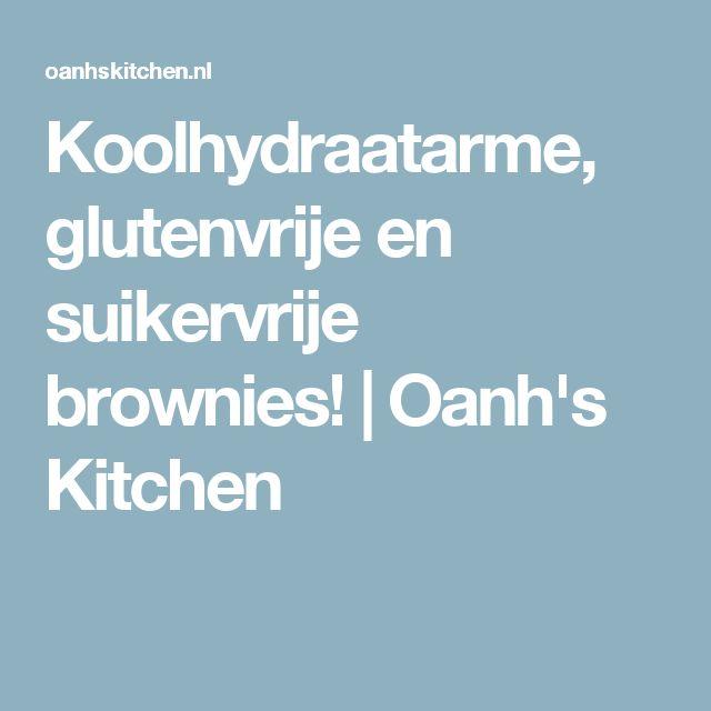 Koolhydraatarme, glutenvrije en suikervrije brownies! | Oanh's Kitchen