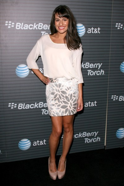 Glee stars at the BlackBerry Torch launch