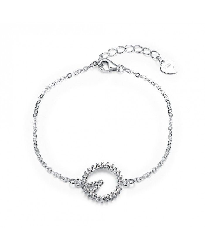 New Fashion Abstract Clock with Zircon Chain Bracelet