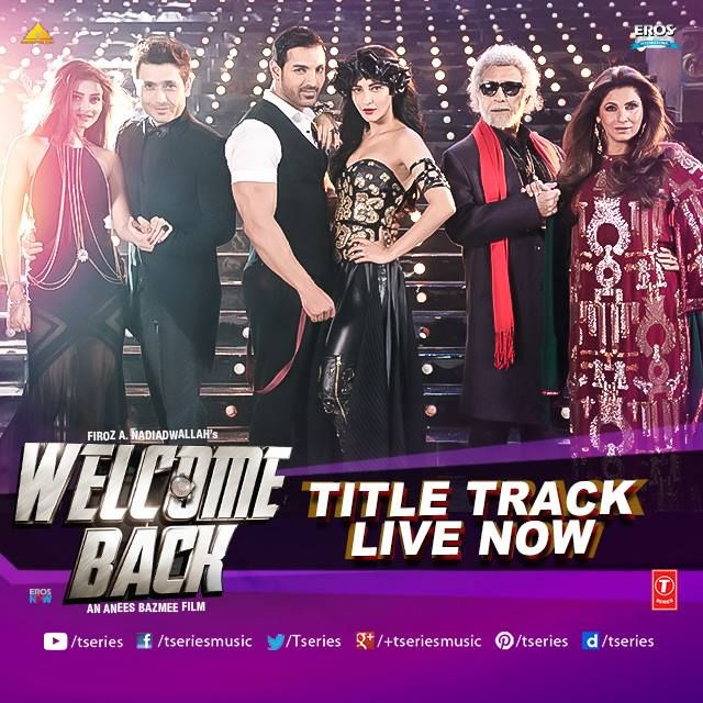 """Lock And Load To Welcome them Back""  *WELCOME BACK- TITLE TRACK* --> http://bit.ly/WelcomeBAckFB  They are funny, they are witty and they would surely leave you asking for more!! Plat it on R-E-PEAT Mode.  #TseriesMusic #WelcomeBack #TitleTrack #JohnAbraham #ShrutiHaasan #NanaPAtekar #AnilKApoor"