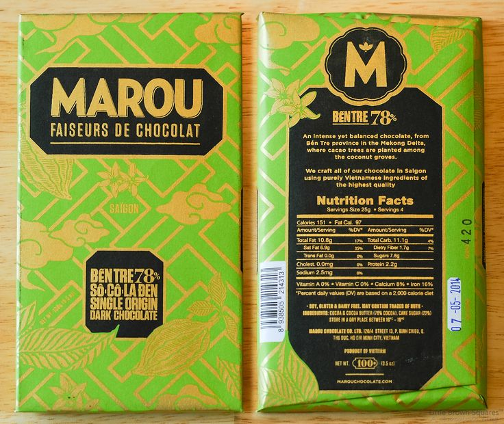 Marou Chocolate Ben Tre 78% Dark Chocolate Bar http://pod72.com/chocolate-bars/dark-chocolate-bars/marou-chocolate-ben-tre-78-dark-chocolate-bar.html