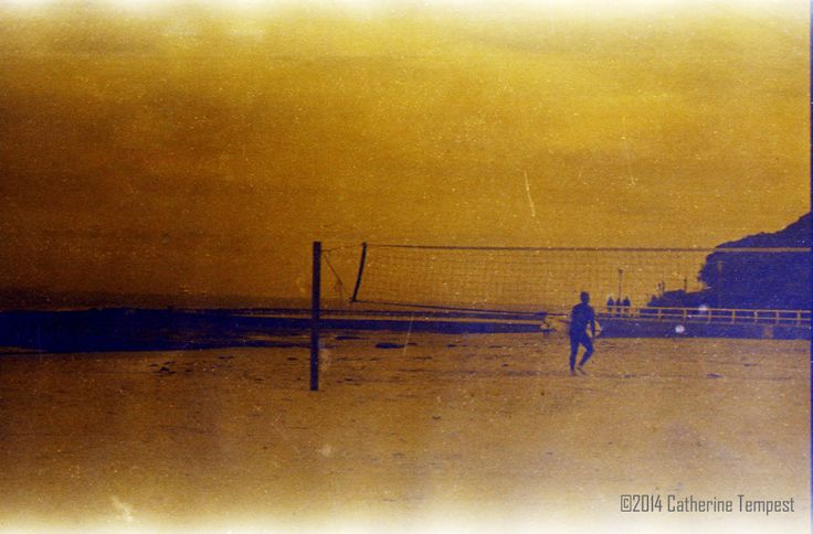 Newcastle Beach, film photo developed with coffee, Catherine Tempest, 2014