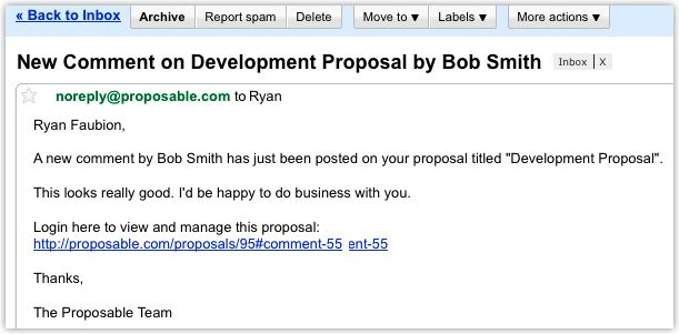Sales proposal email is an invitation sent on behalf of a ...