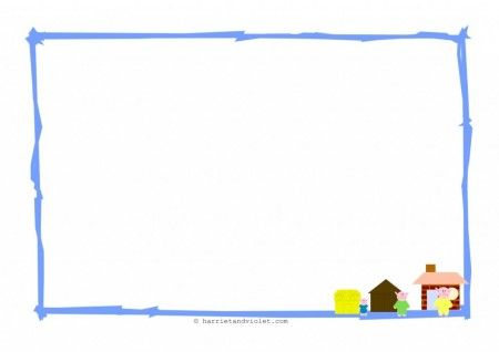 The Three Little Pigs Border Paper Landscape A4 Paper Plain-1 Early Years (EYFS), KS1, KS2, Primary & Secondary School teaching help, ideas and free teaching resources for the classroom. We love sharing free teaching resources!