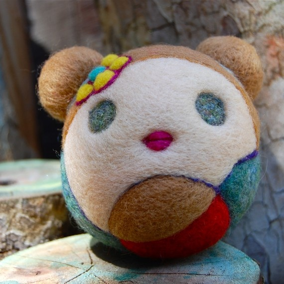 Needle Felted Nursing Mama Jingle Ball Made to Order