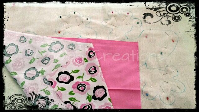 Custom Gecko Heat Pack in the making.  I should be able to get a second one out of this fabric combo...