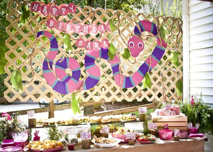 Pink Snake Birthday Party Ideas | Photo 4 of 37