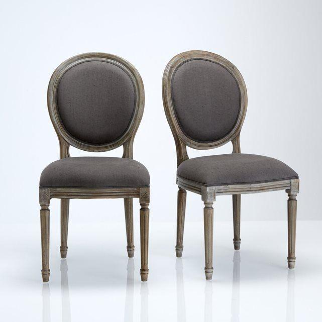 Cadeira medalhão, estilo Luís XVI, lote de 2, Nottingham La Redoute Interieurs