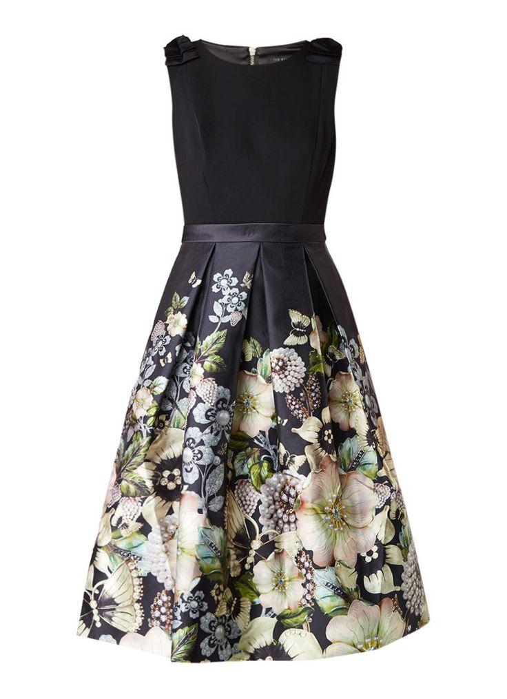 Ted Baker Felcity A-lijn jurk met strikdetail en dessin • de Bijenkorf