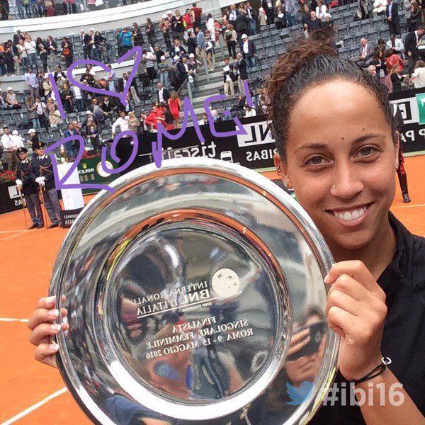 5/15/16 Internazionali Bnl  ·   Congrats again to @Madison_Keys for playing an amazing #ibi16's final! #Keys #tennis #WTA